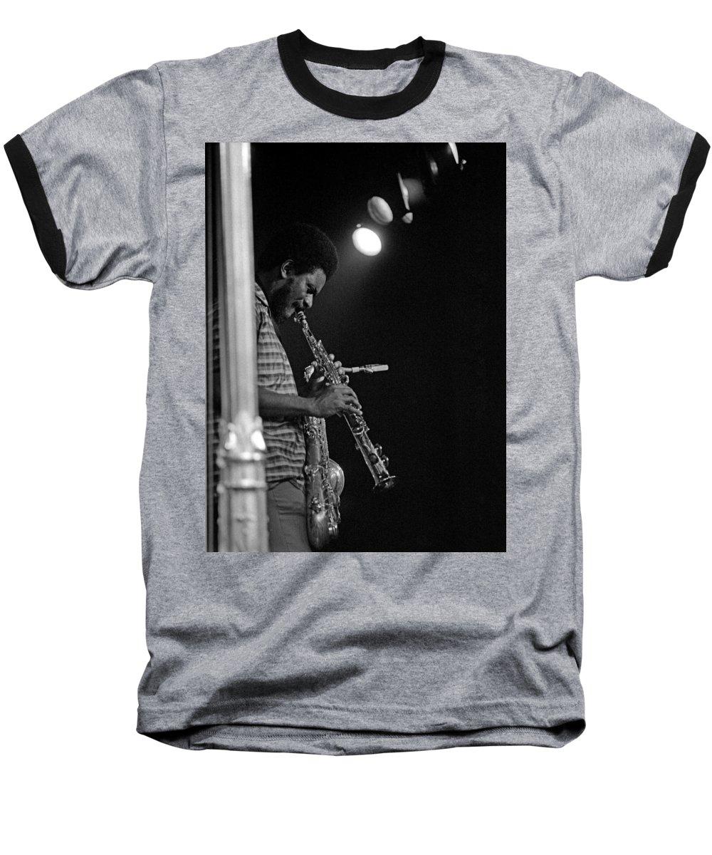 Pharoah Sanders Baseball T-Shirt featuring the photograph Pharoah Sanders 1 by Lee Santa