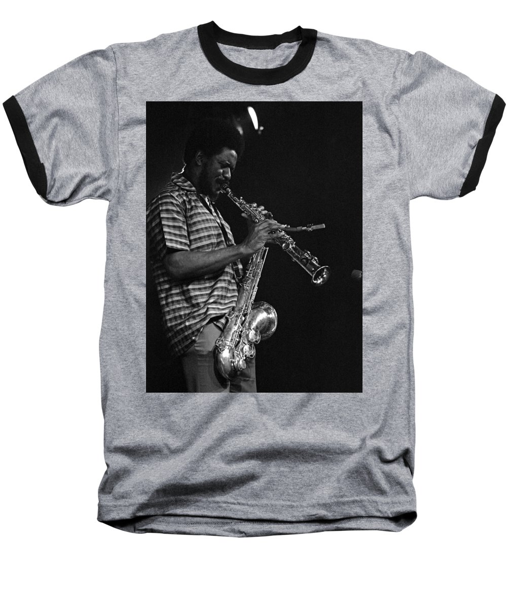 Pharoah Sanders Baseball T-Shirt featuring the photograph Pharoah Sanders 4 by Lee Santa