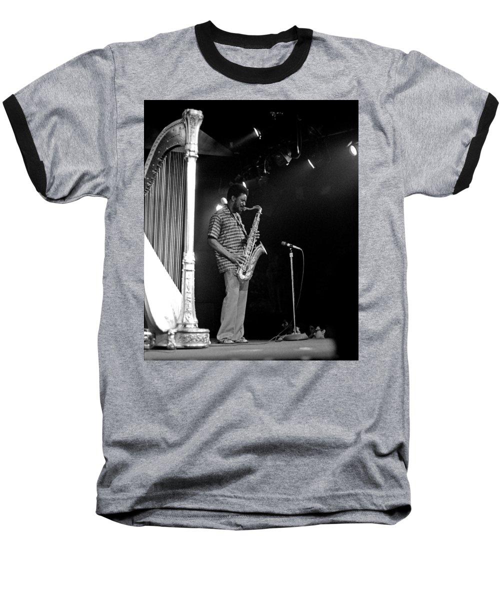 Pharoah Sanders Baseball T-Shirt featuring the photograph Pharoah Sanders 5 by Lee Santa