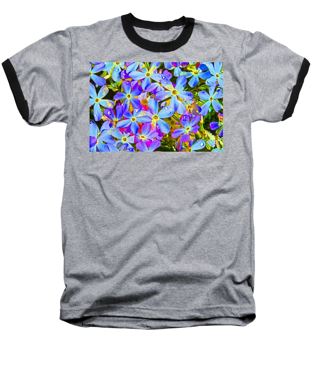 Wildflower Baseball T-Shirt featuring the photograph Pincushion Flower by Heather Coen
