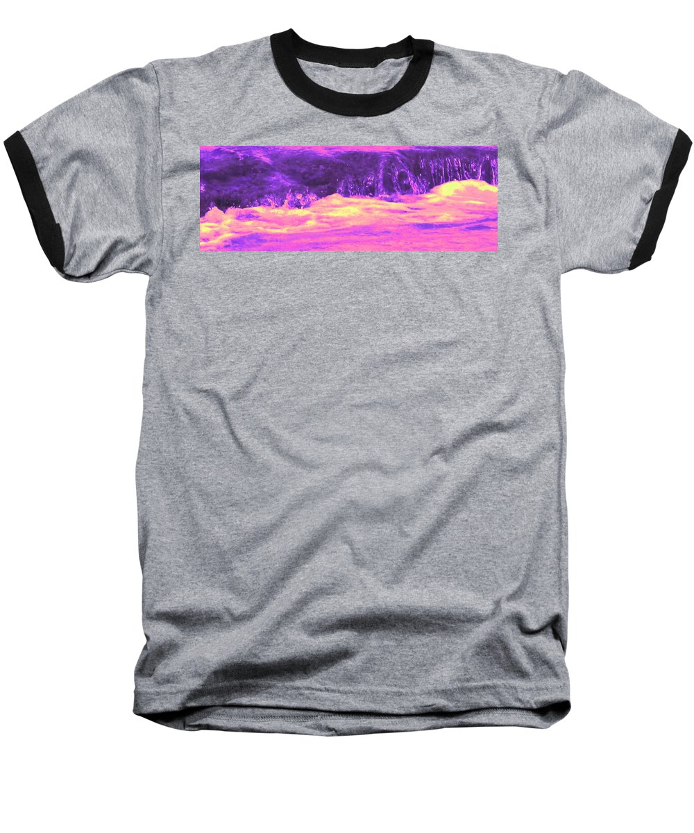 Seascape Baseball T-Shirt featuring the photograph Pink Tidal Pool by Ian MacDonald