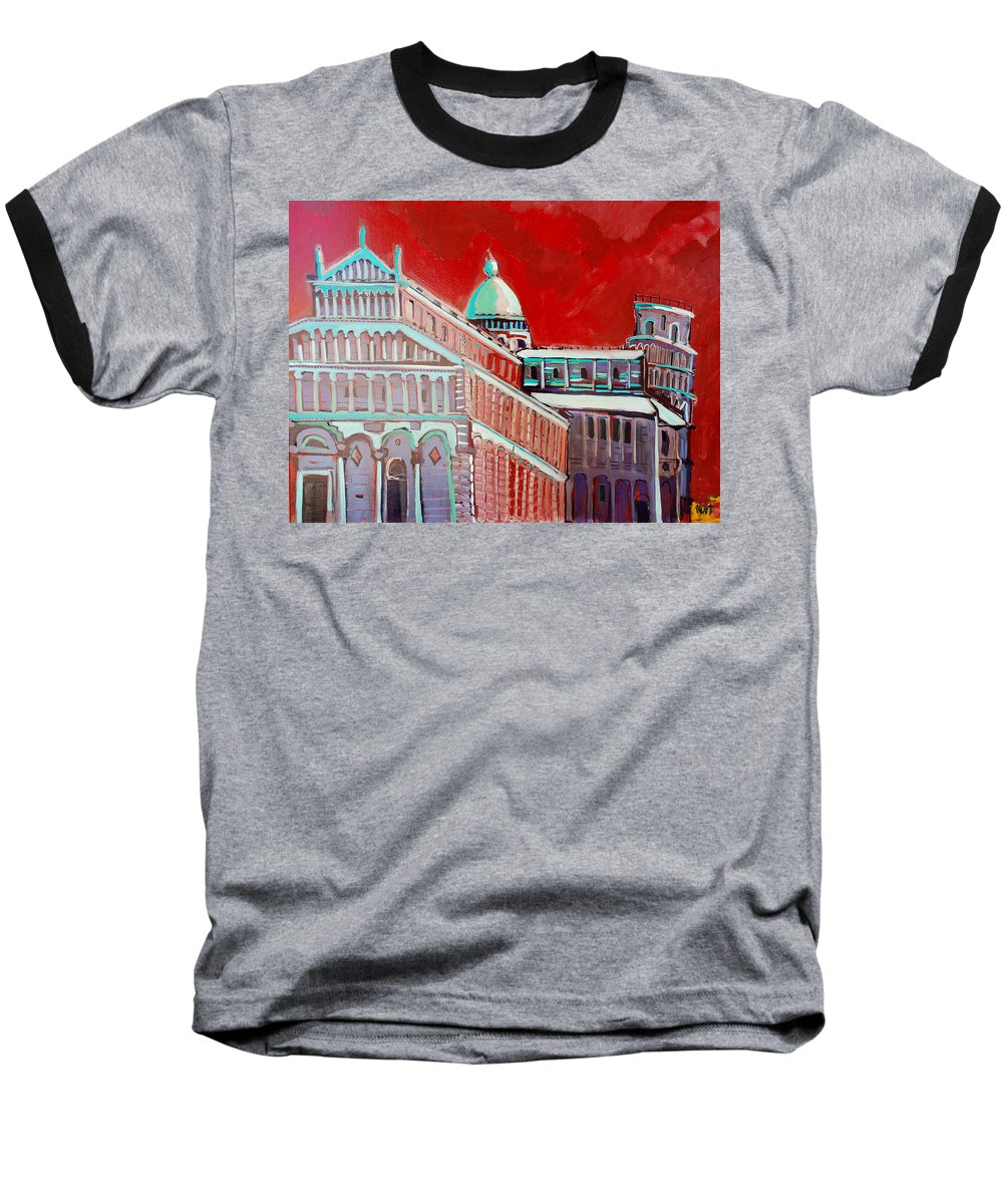 Pisa Baseball T-Shirt featuring the painting Pisa by Kurt Hausmann