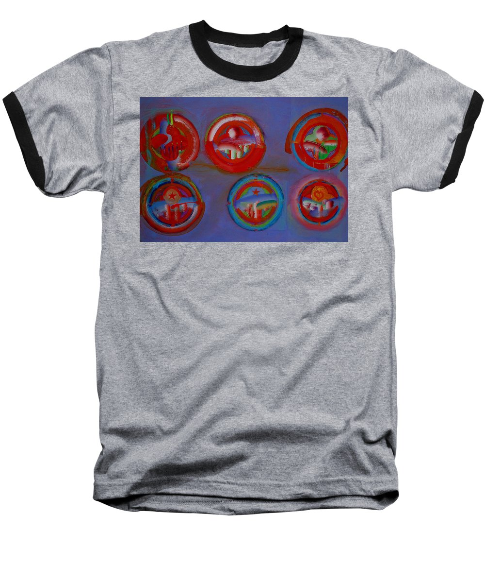 Logo Baseball T-Shirt featuring the painting Plate State by Charles Stuart