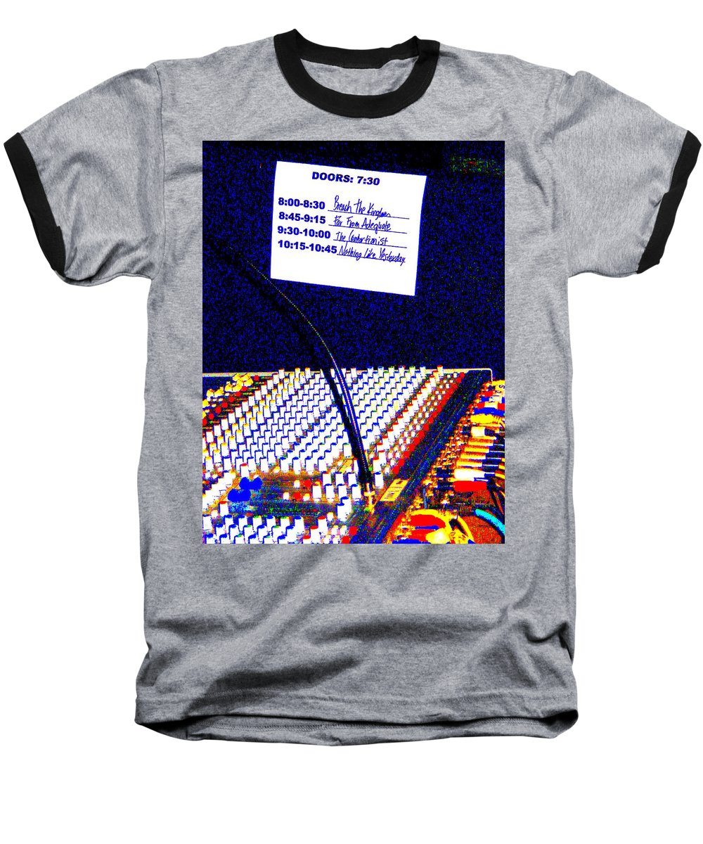 Still Life Baseball T-Shirt featuring the photograph Plugged In by Ed Smith