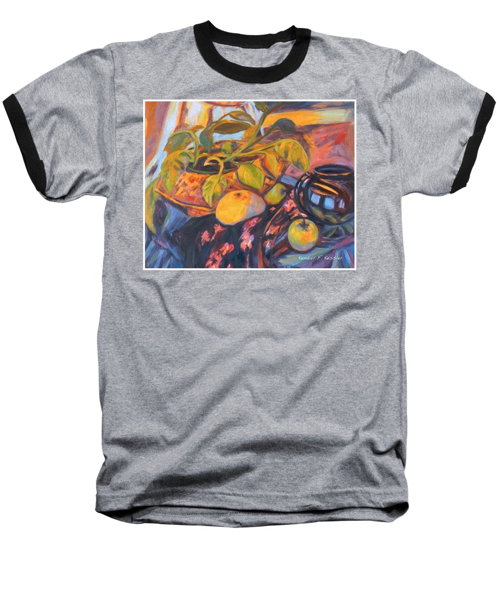 Still Life Baseball T-Shirt featuring the painting Pollys Plant by Kendall Kessler