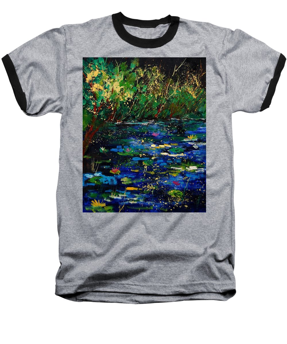 Water Baseball T-Shirt featuring the painting Pond 459030 by Pol Ledent