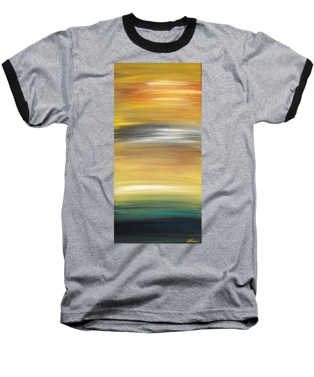 Waves Baseball T-Shirt featuring the painting Pond by Todd Hoover