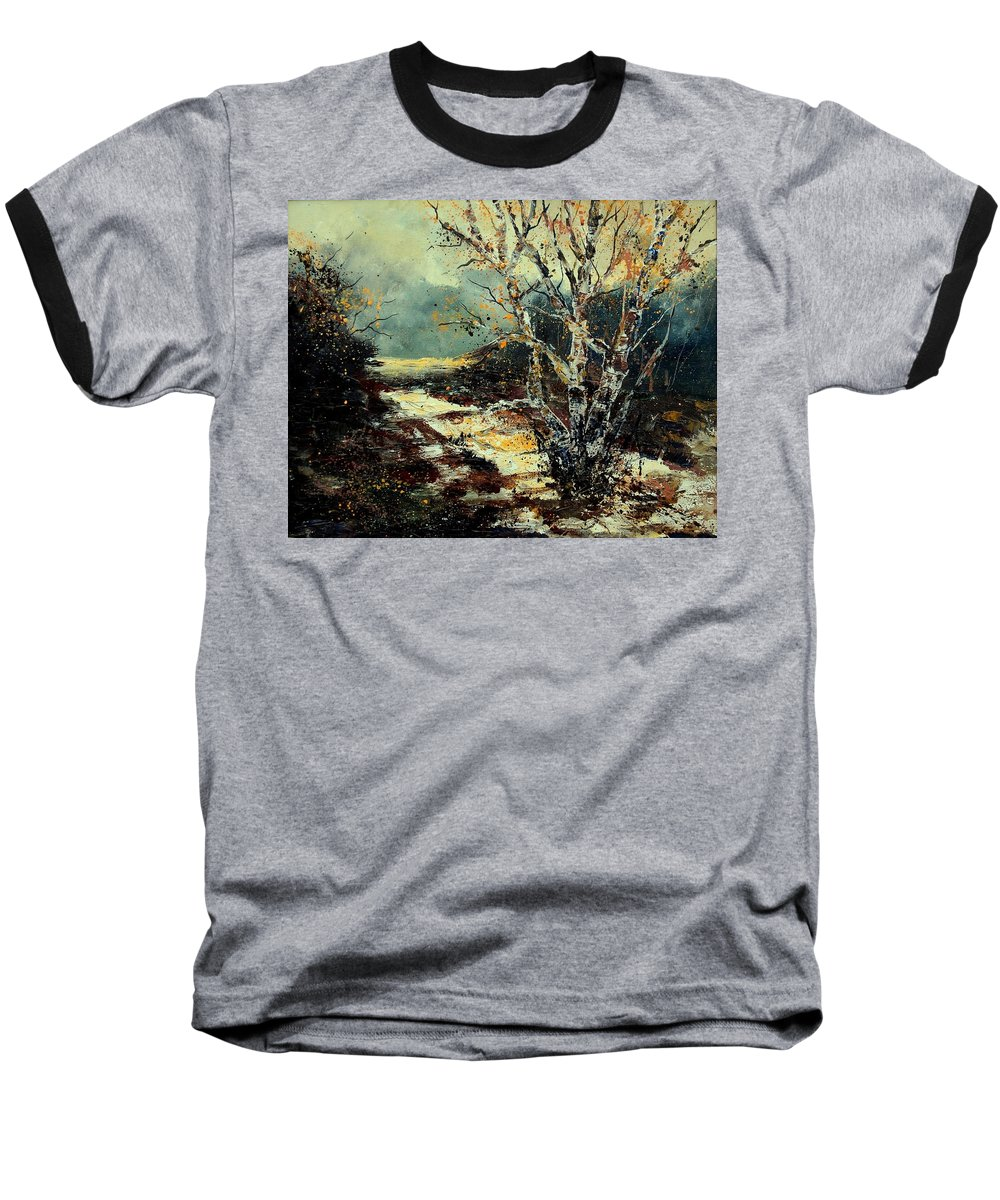 Tree Baseball T-Shirt featuring the painting Poplars 45 by Pol Ledent
