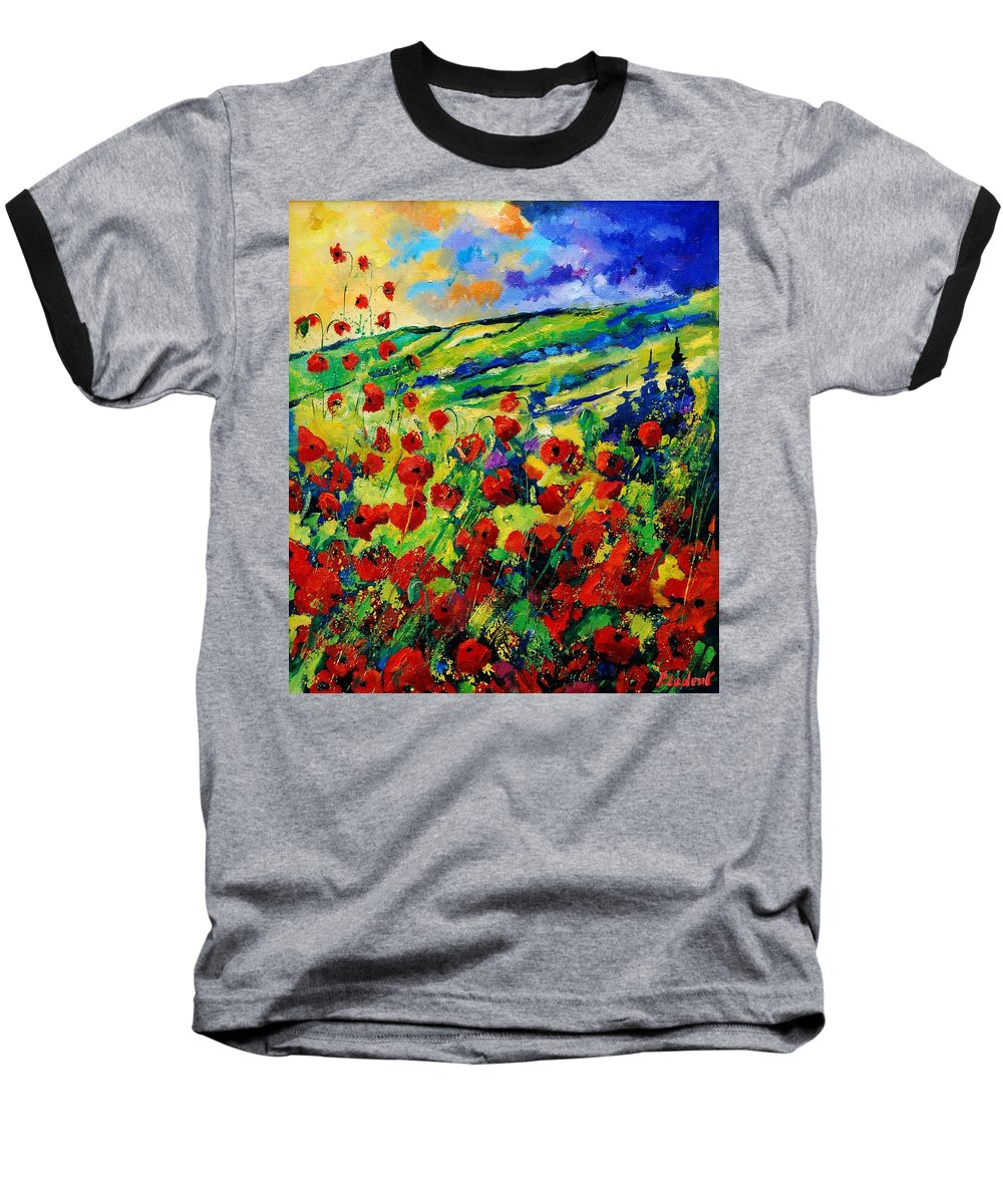 Flowers Baseball T-Shirt featuring the painting Poppies 78 by Pol Ledent