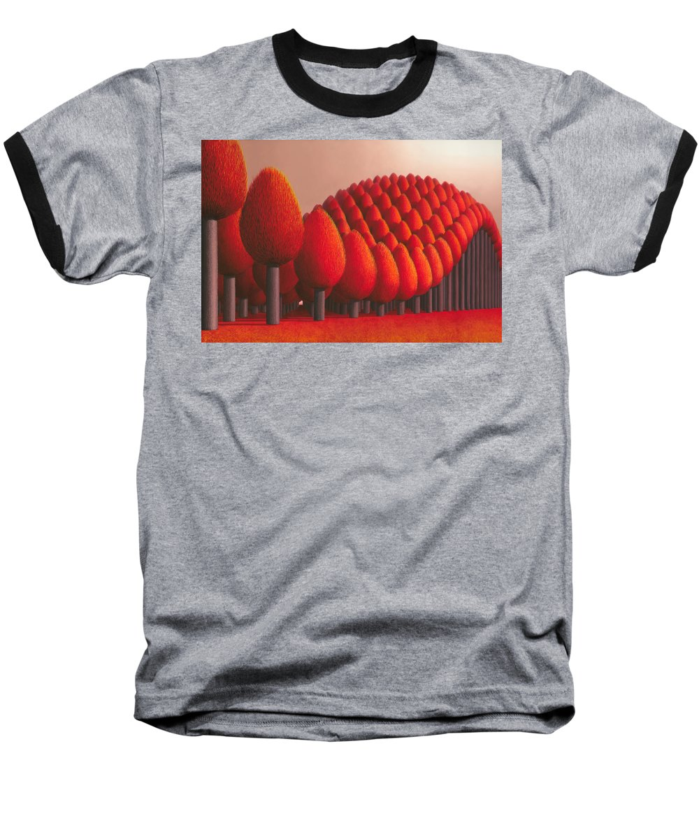 Tree Baseball T-Shirt featuring the painting Populus Flucta by Patricia Van Lubeck