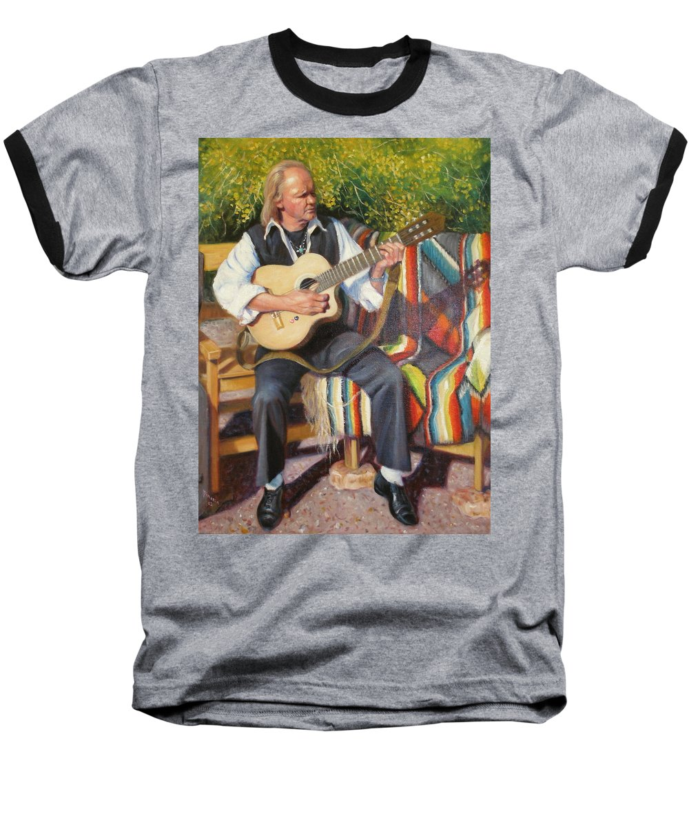 Realism Baseball T-Shirt featuring the painting Por Tu Amor by Donelli DiMaria