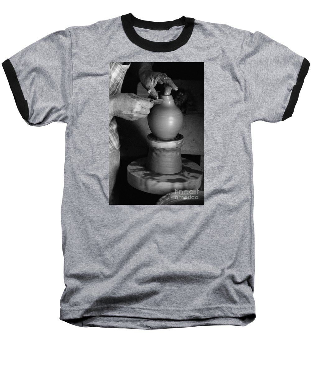 Azores Baseball T-Shirt featuring the photograph Potter At Work by Gaspar Avila