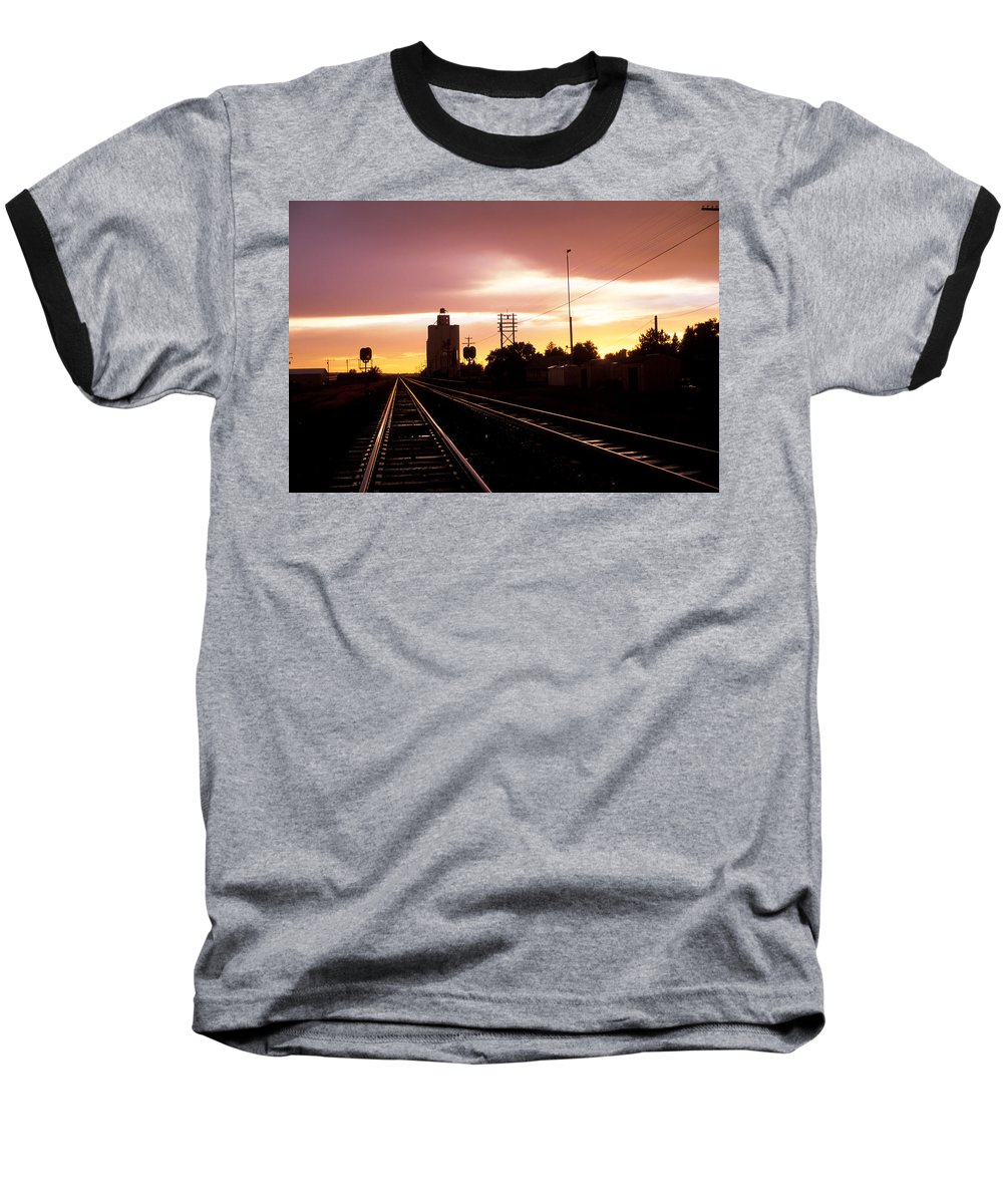Potter Baseball T-Shirt featuring the photograph Potter Tracks by Jerry McElroy