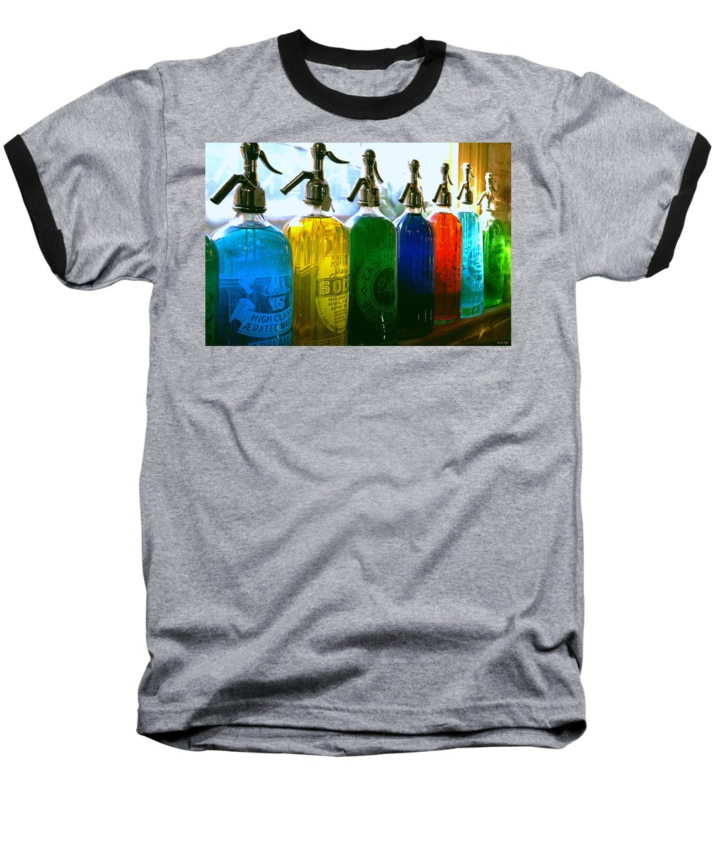 Food And Beverage Baseball T-Shirt featuring the photograph Pour Me A Rainbow by Holly Kempe