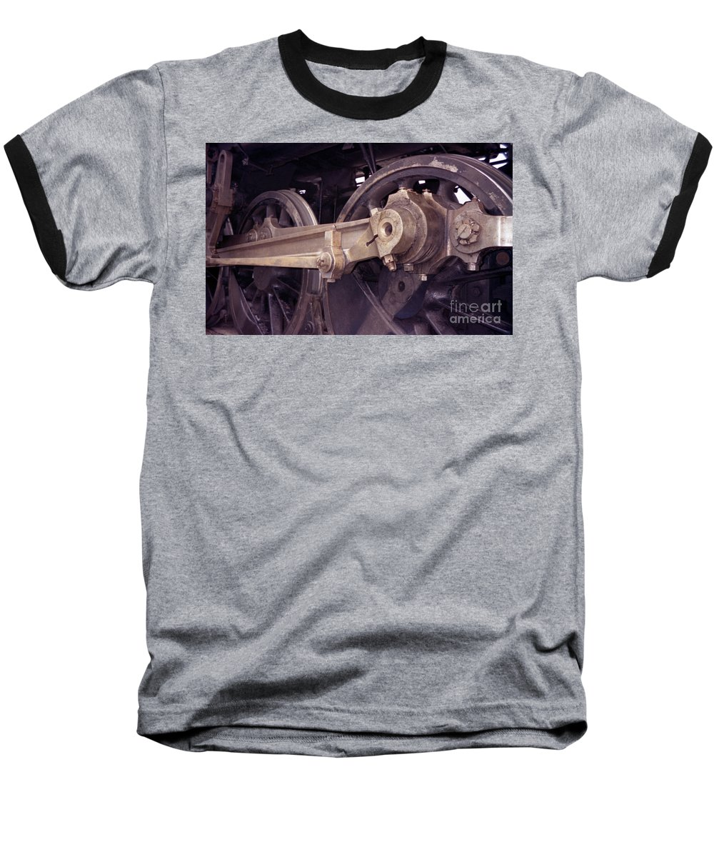 Trains Baseball T-Shirt featuring the photograph Power Train by Richard Rizzo