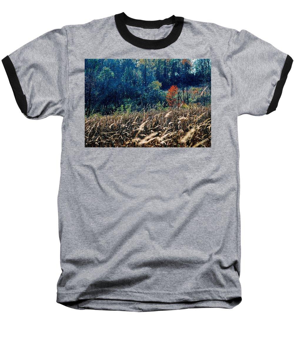 Landscape Baseball T-Shirt featuring the photograph Prairie Edge by Steve Karol