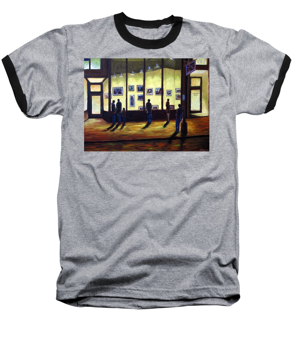 Urban Baseball T-Shirt featuring the painting Pranke by Richard T Pranke