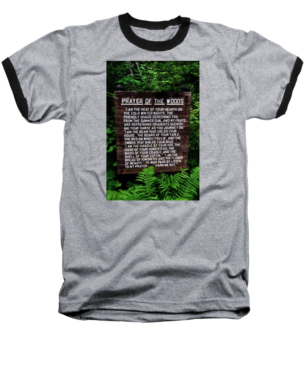 Prayer Baseball T-Shirt featuring the photograph Prayer Of The Woods by Michelle Calkins