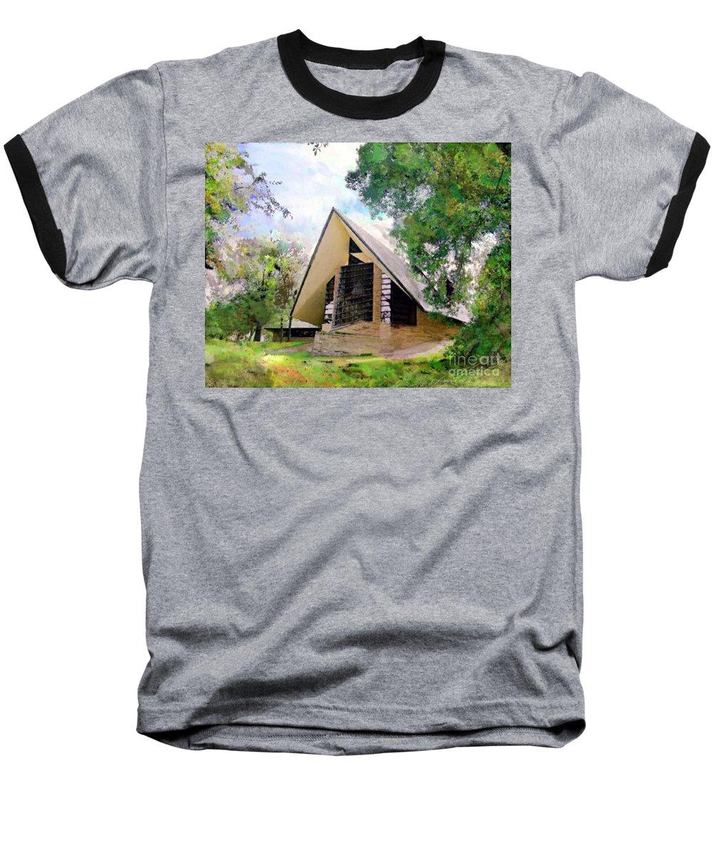 Praying Hands Baseball T-Shirt featuring the digital art Praying Hands by John Beck