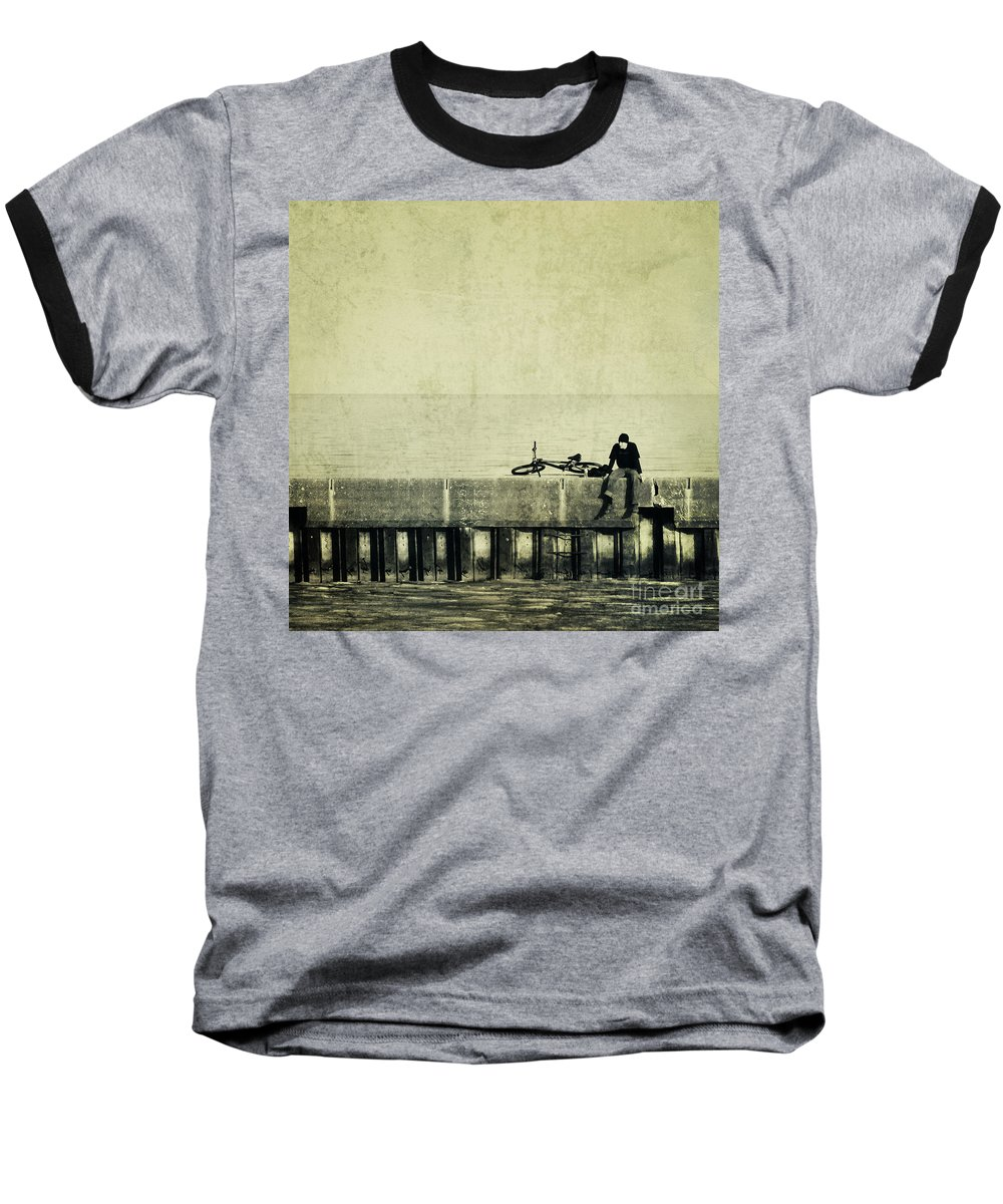 Man Baseball T-Shirt featuring the photograph Praying To A God I Dont Believe In by Dana DiPasquale