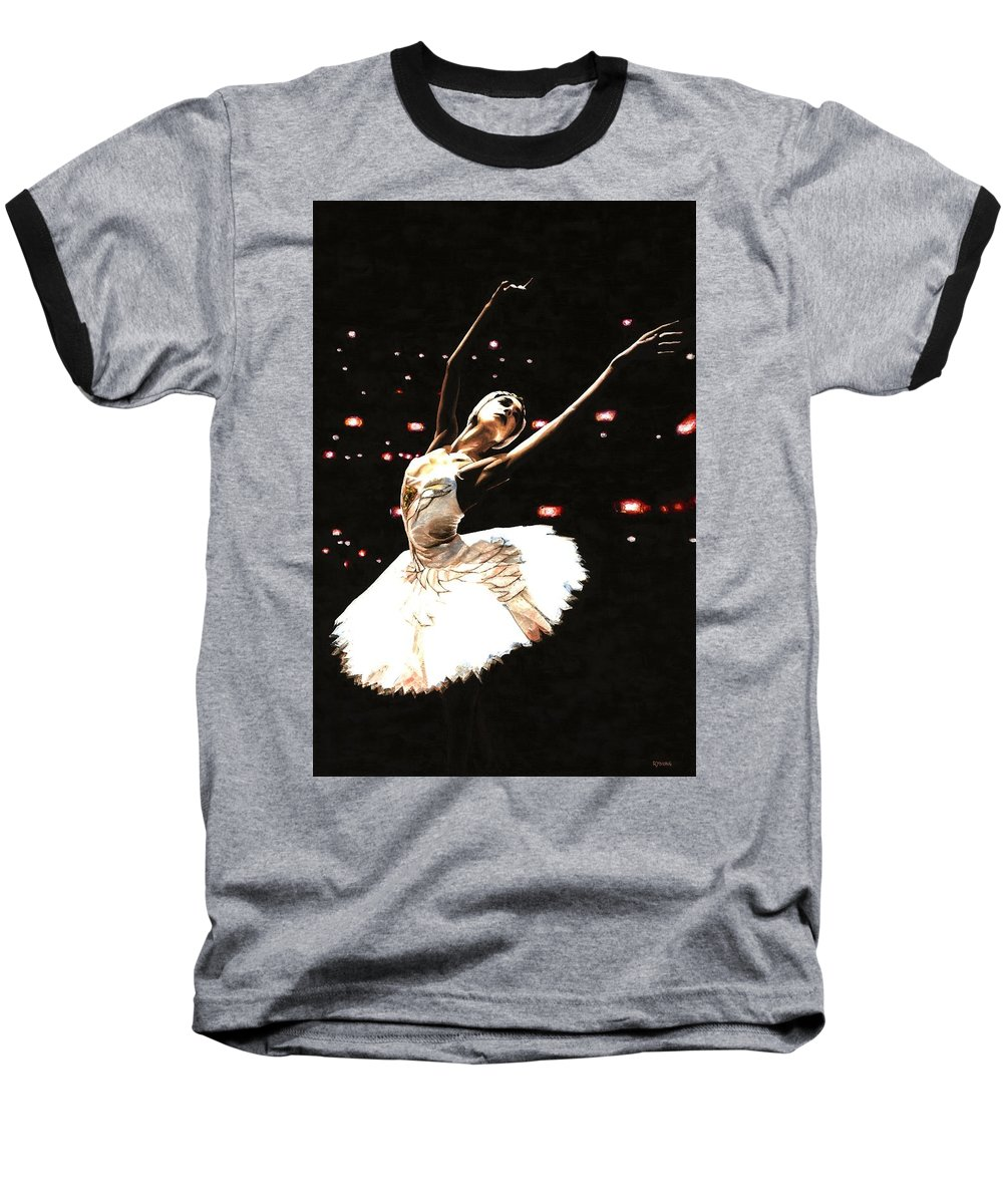 Prima Ballerina Baseball T-Shirt featuring the painting Prima Ballerina by Richard Young
