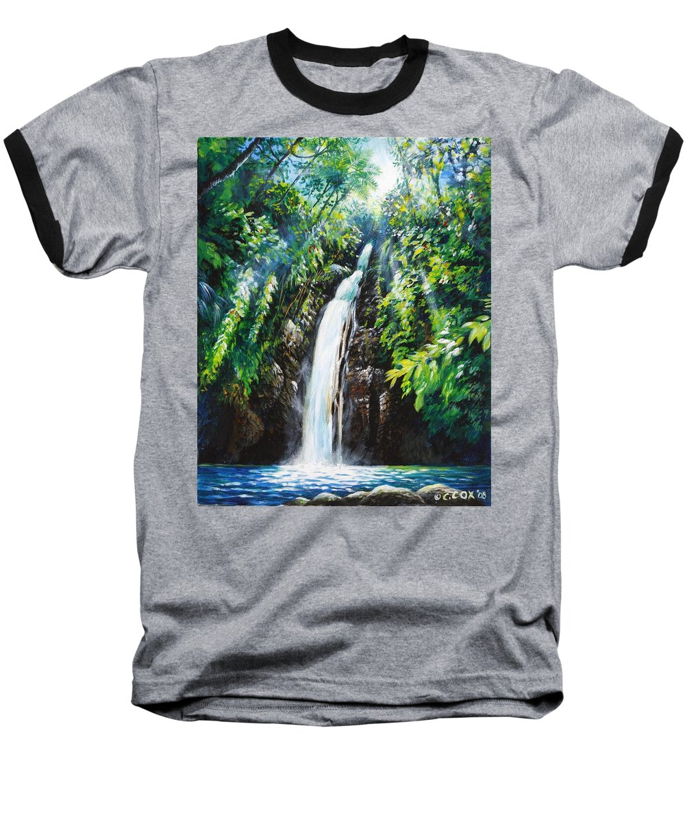Chris Cox Baseball T-Shirt featuring the painting Pristine by Christopher Cox