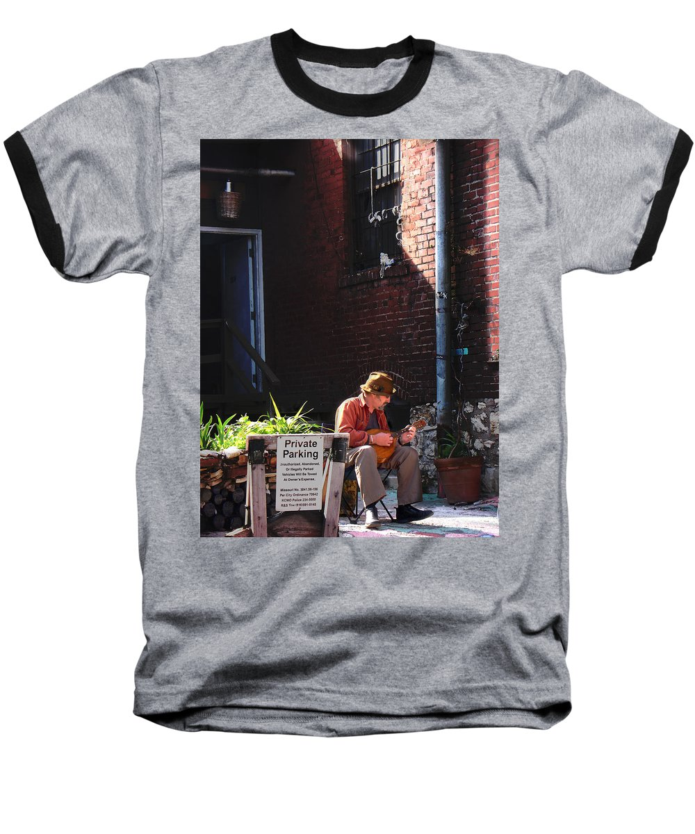 City Scape Baseball T-Shirt featuring the photograph Private Parking by Steve Karol