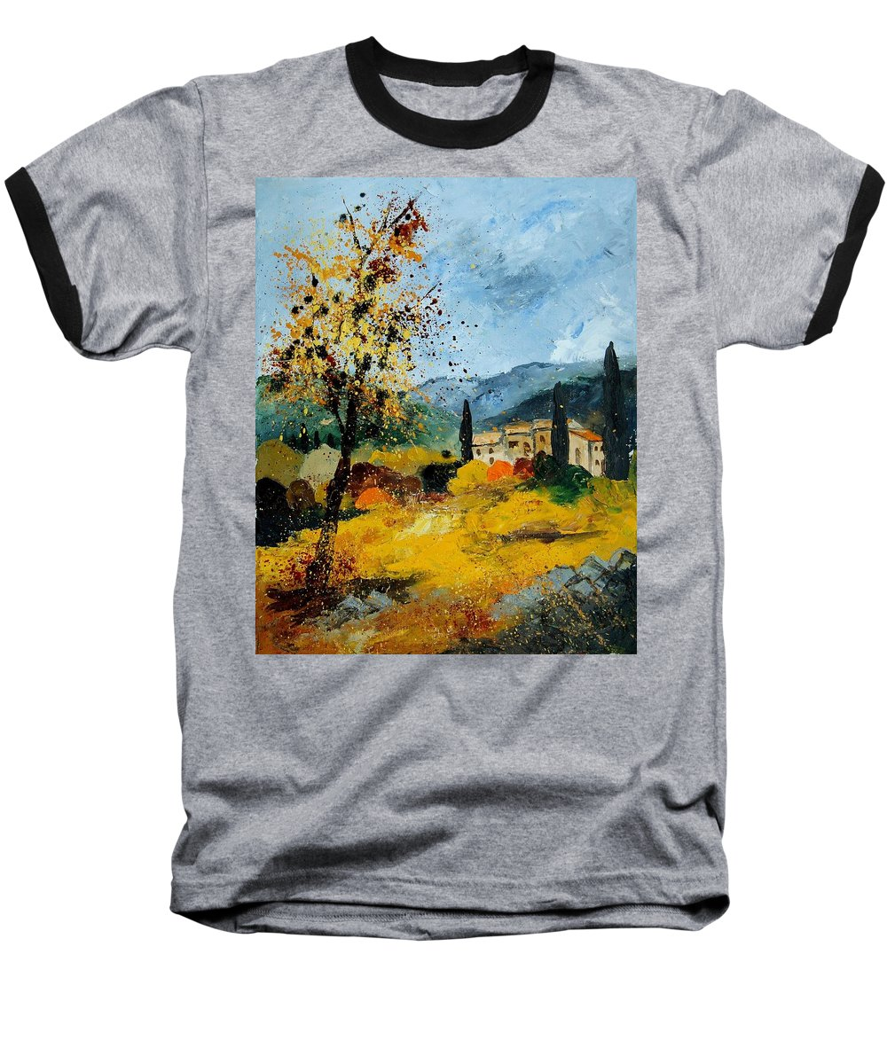 Provence Baseball T-Shirt featuring the painting Provence 45 by Pol Ledent