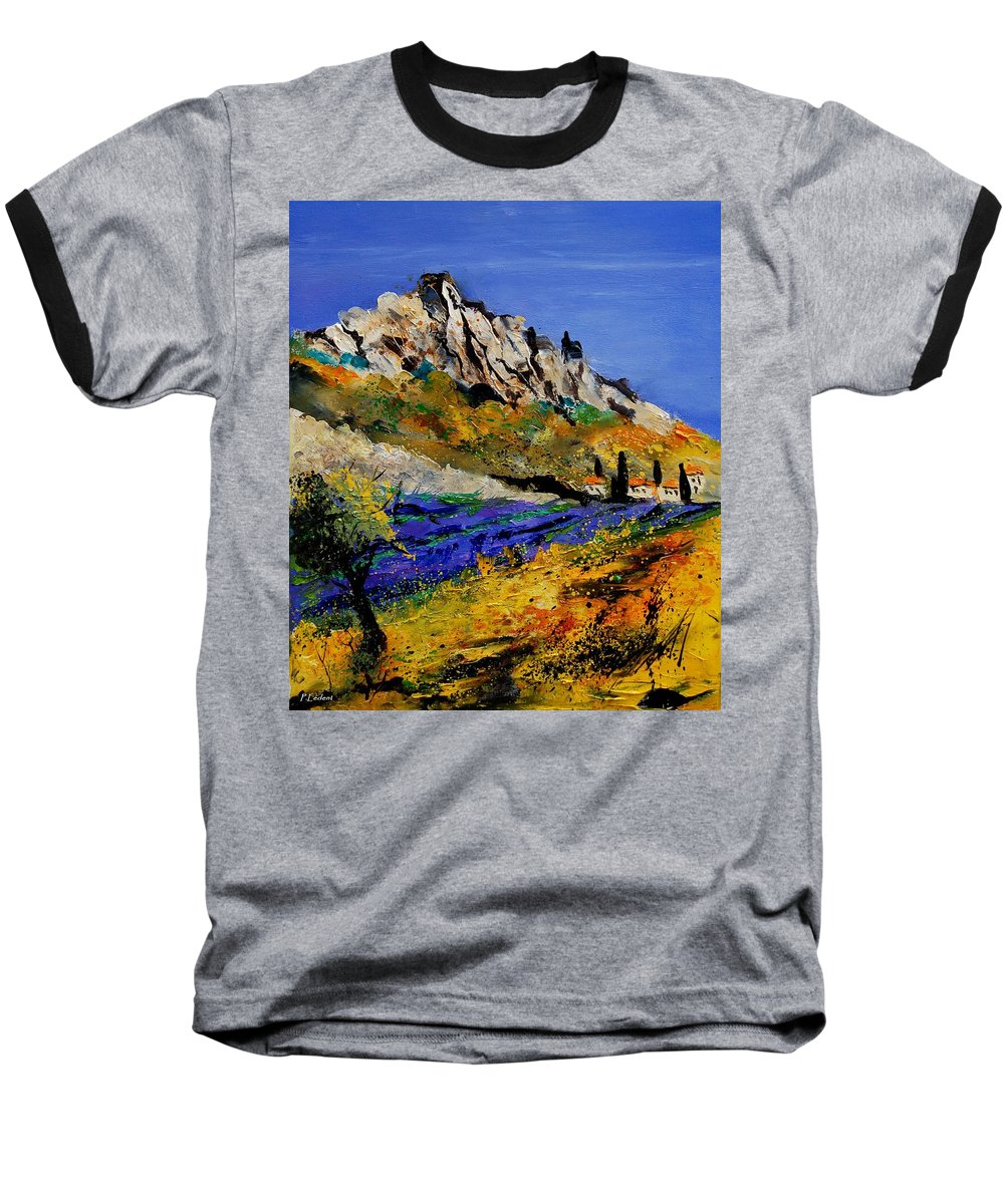 Flowers Baseball T-Shirt featuring the painting Provence 560908 by Pol Ledent
