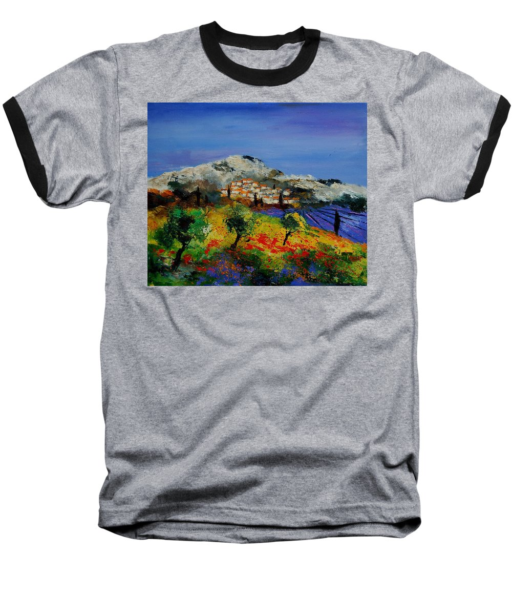 Provence Baseball T-Shirt featuring the painting Provence 569010 by Pol Ledent