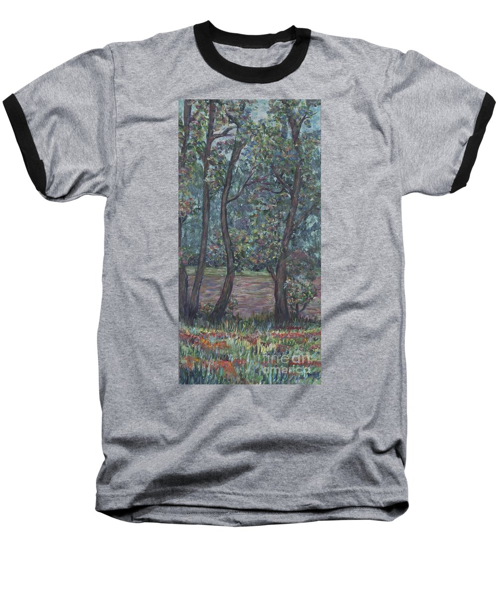 Landscape Baseball T-Shirt featuring the painting Provence Flowers by Nadine Rippelmeyer
