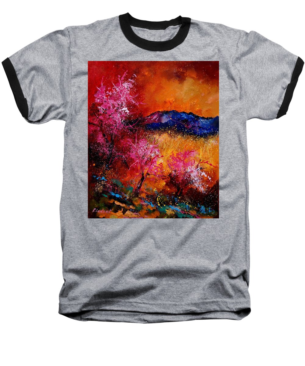 Provence Baseball T-Shirt featuring the painting Provence560908 by Pol Ledent