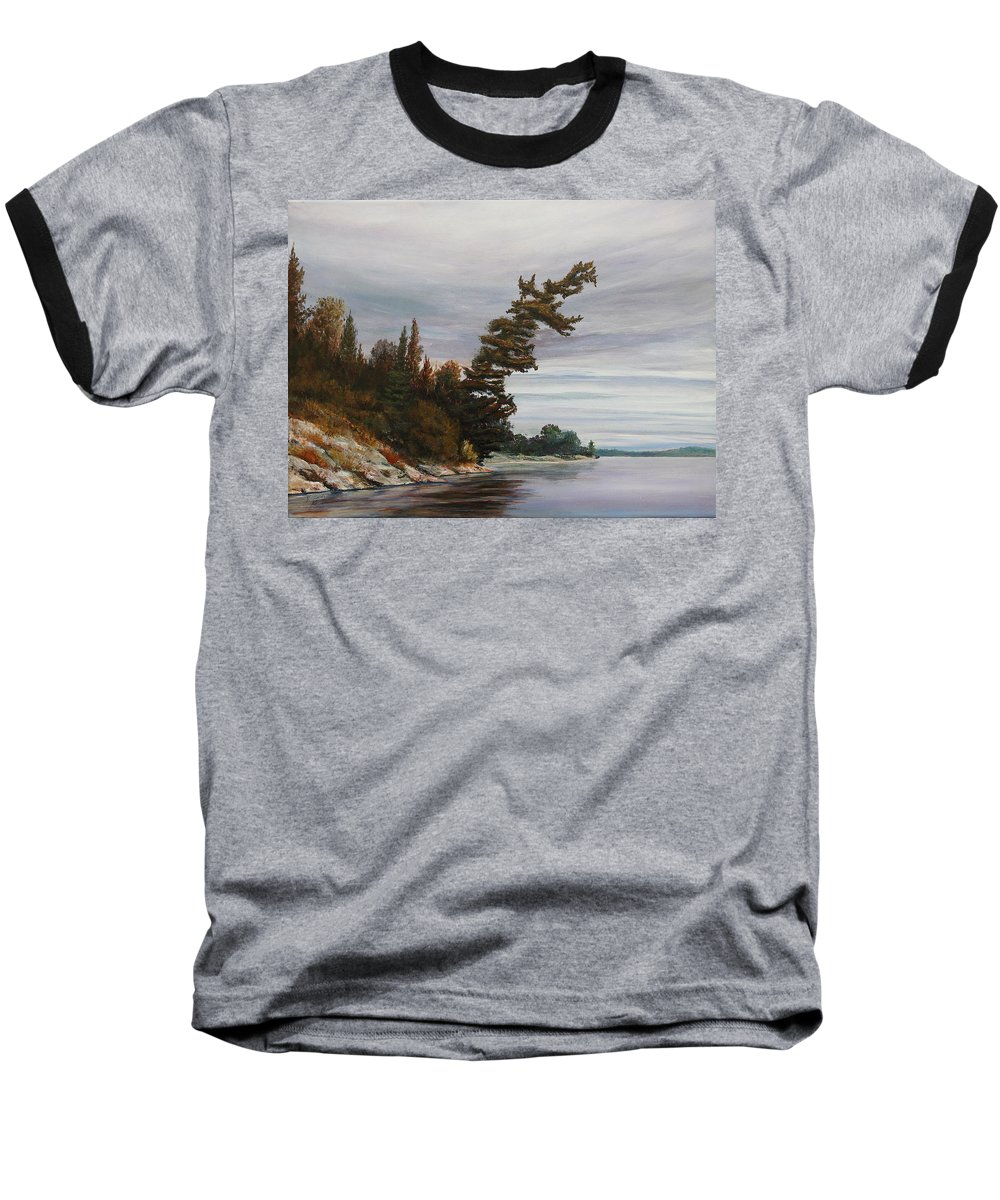 Landscape Baseball T-Shirt featuring the painting Ptarmigan Bay by Ruth Kamenev