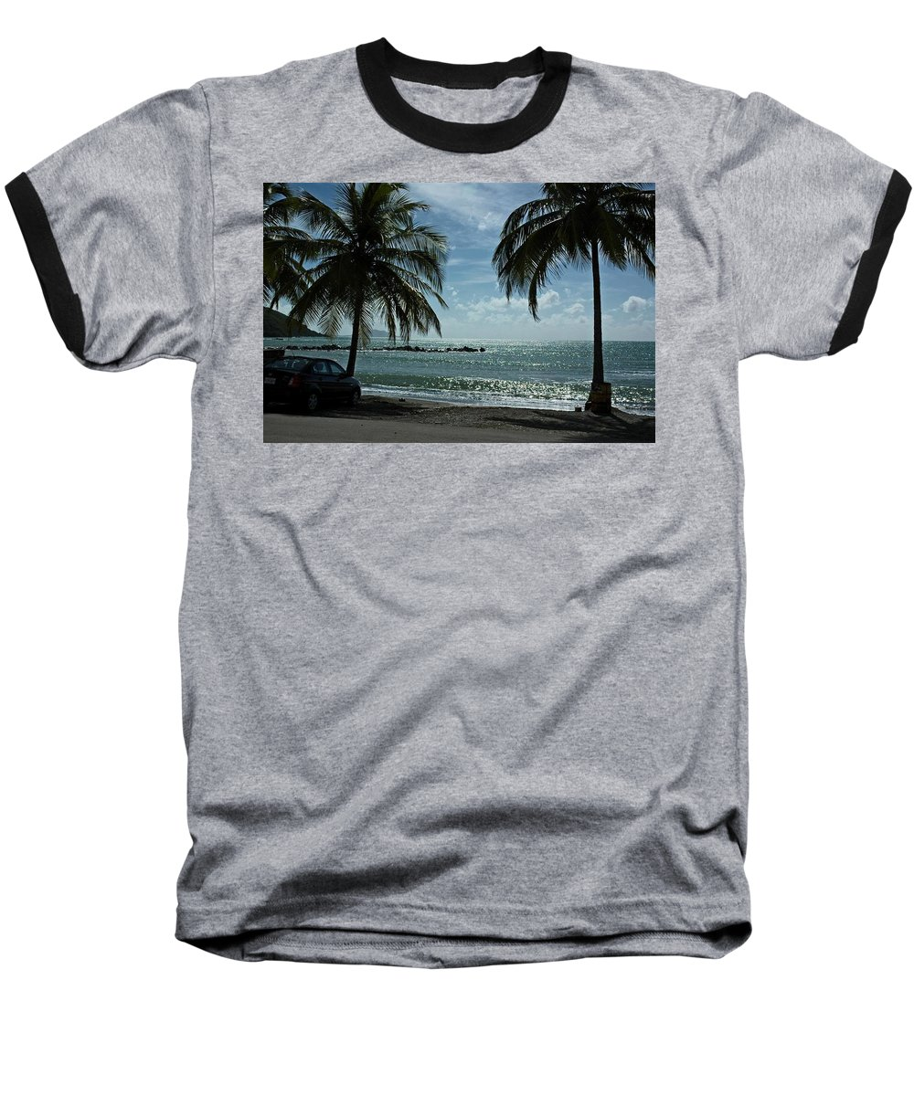 Landscape Baseball T-Shirt featuring the photograph Puerto Rican Beach by Tito Santiago
