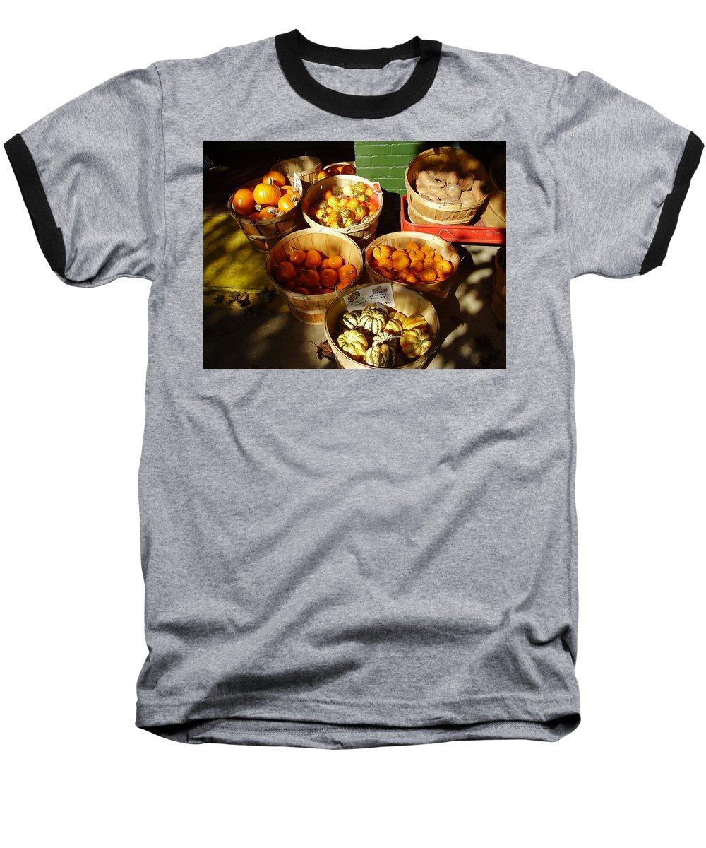 Pumpkins Baseball T-Shirt featuring the photograph Pumpkins by Flavia Westerwelle