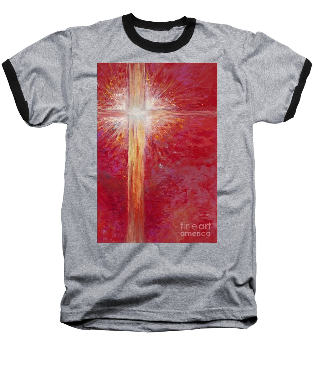 Light Baseball T-Shirt featuring the painting Pure Light by Nadine Rippelmeyer