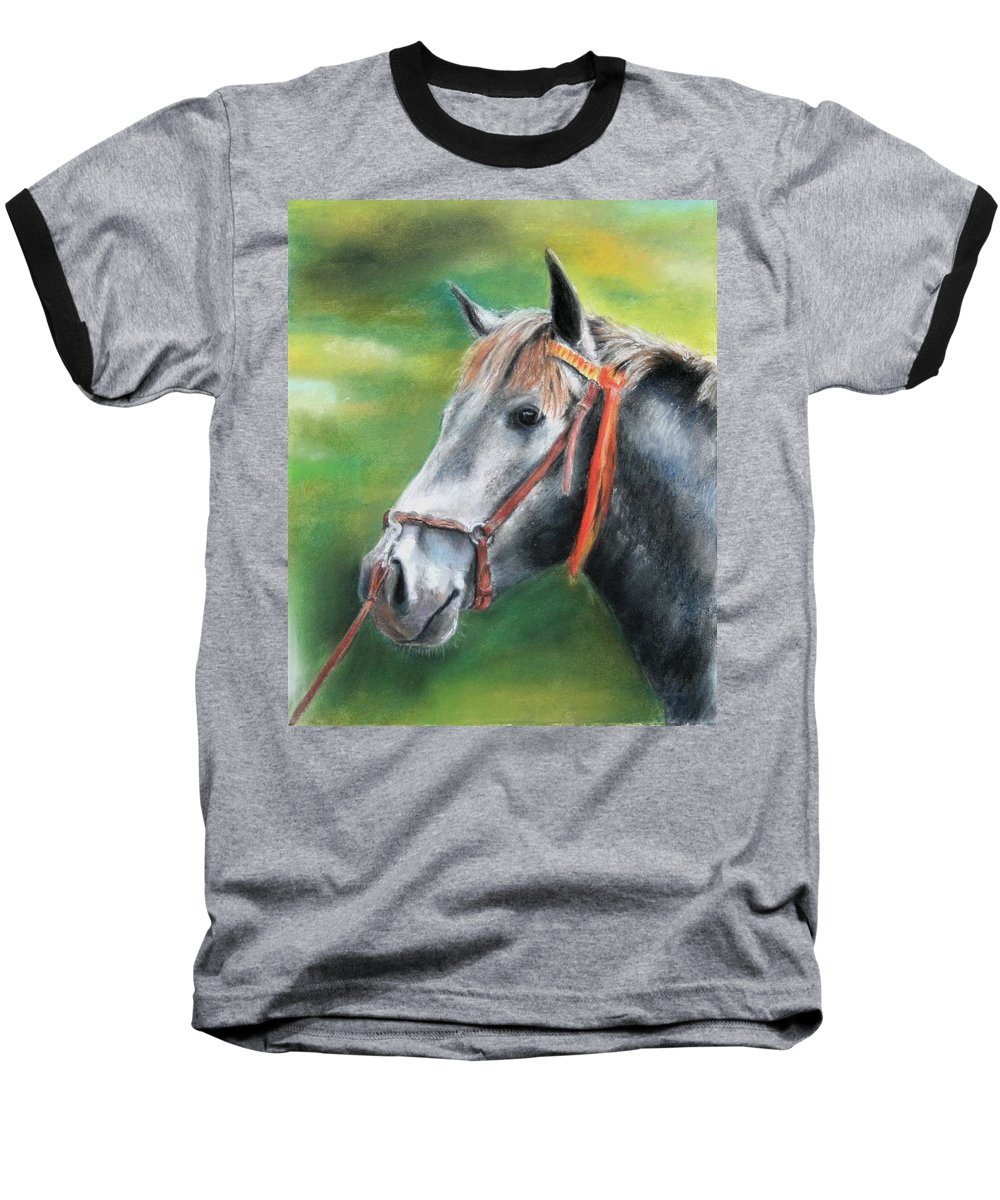 Horse Baseball T-Shirt featuring the painting Pure Spanish by Ceci Watson