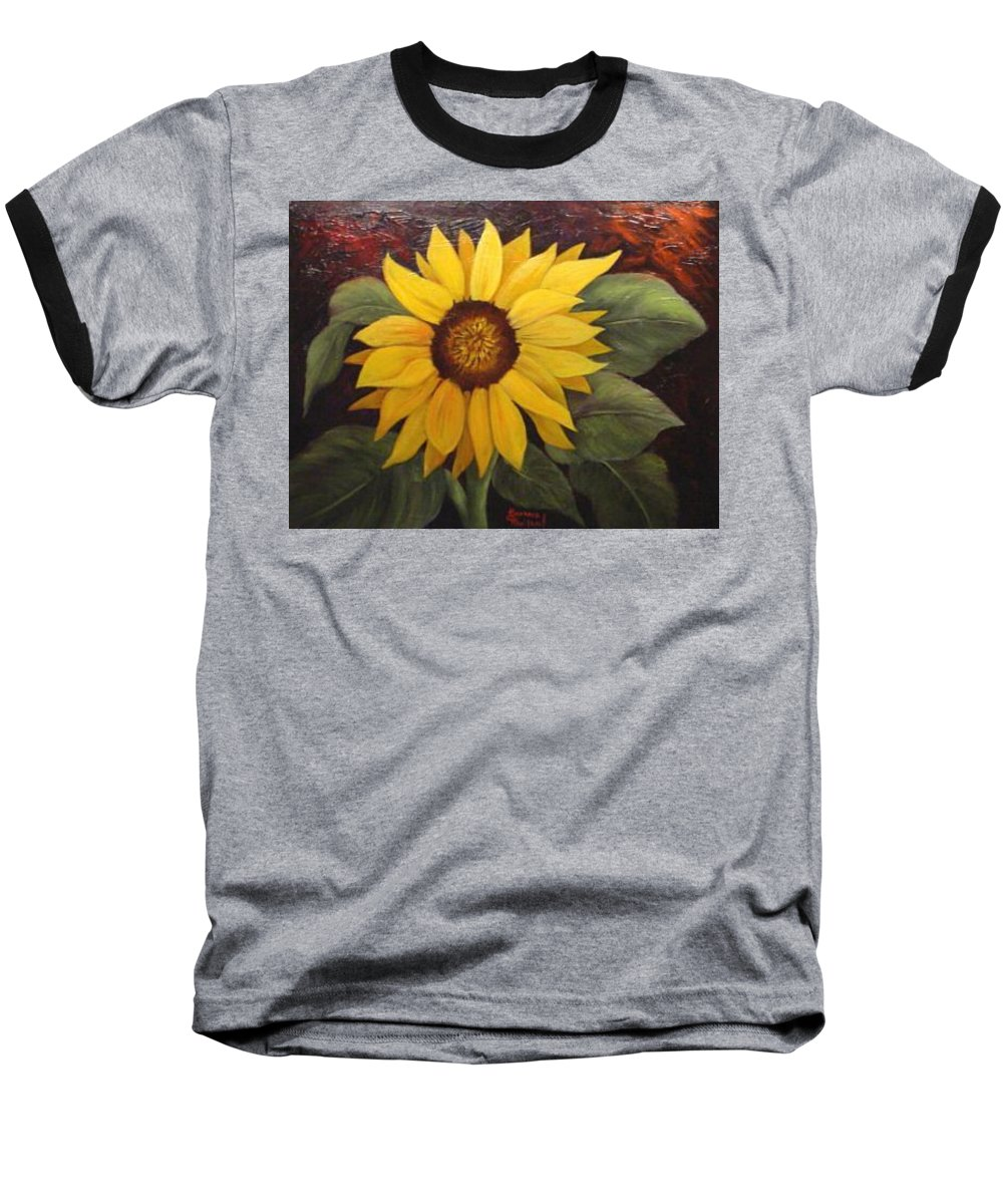 Still Life Baseball T-Shirt featuring the painting Pure Sunshine Sold by Susan Dehlinger