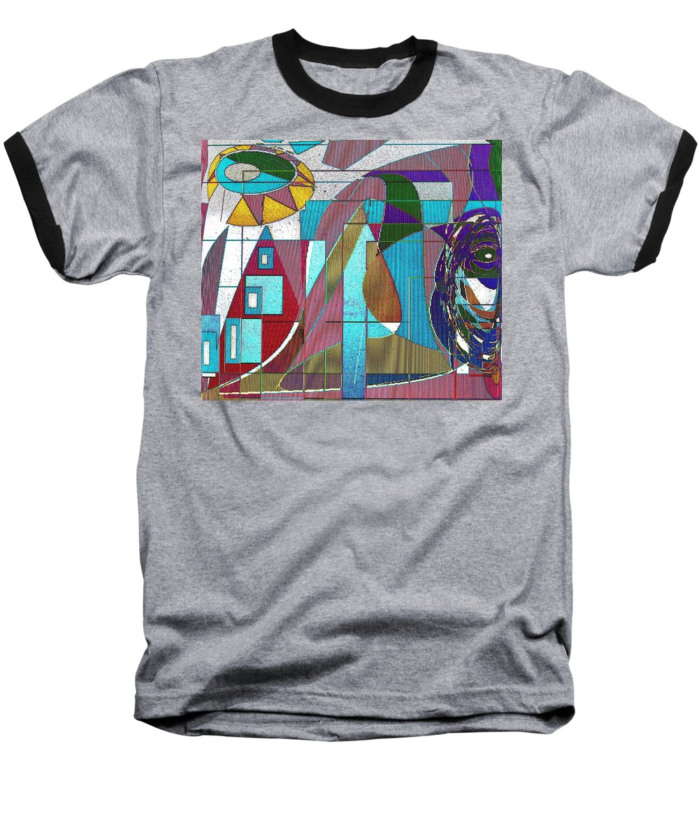 Purple Baseball T-Shirt featuring the digital art Purple And Blue by Ian MacDonald