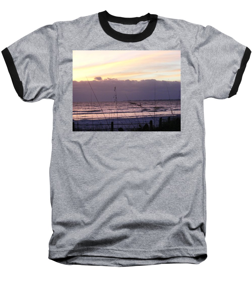 Landscape Baseball T-Shirt featuring the photograph Purple Haze by Ed Smith