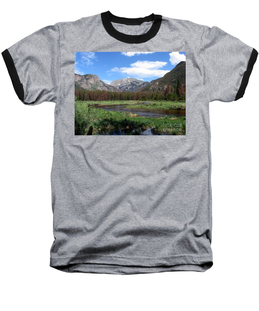 Nature Baseball T-Shirt featuring the photograph Quiet by Amanda Barcon