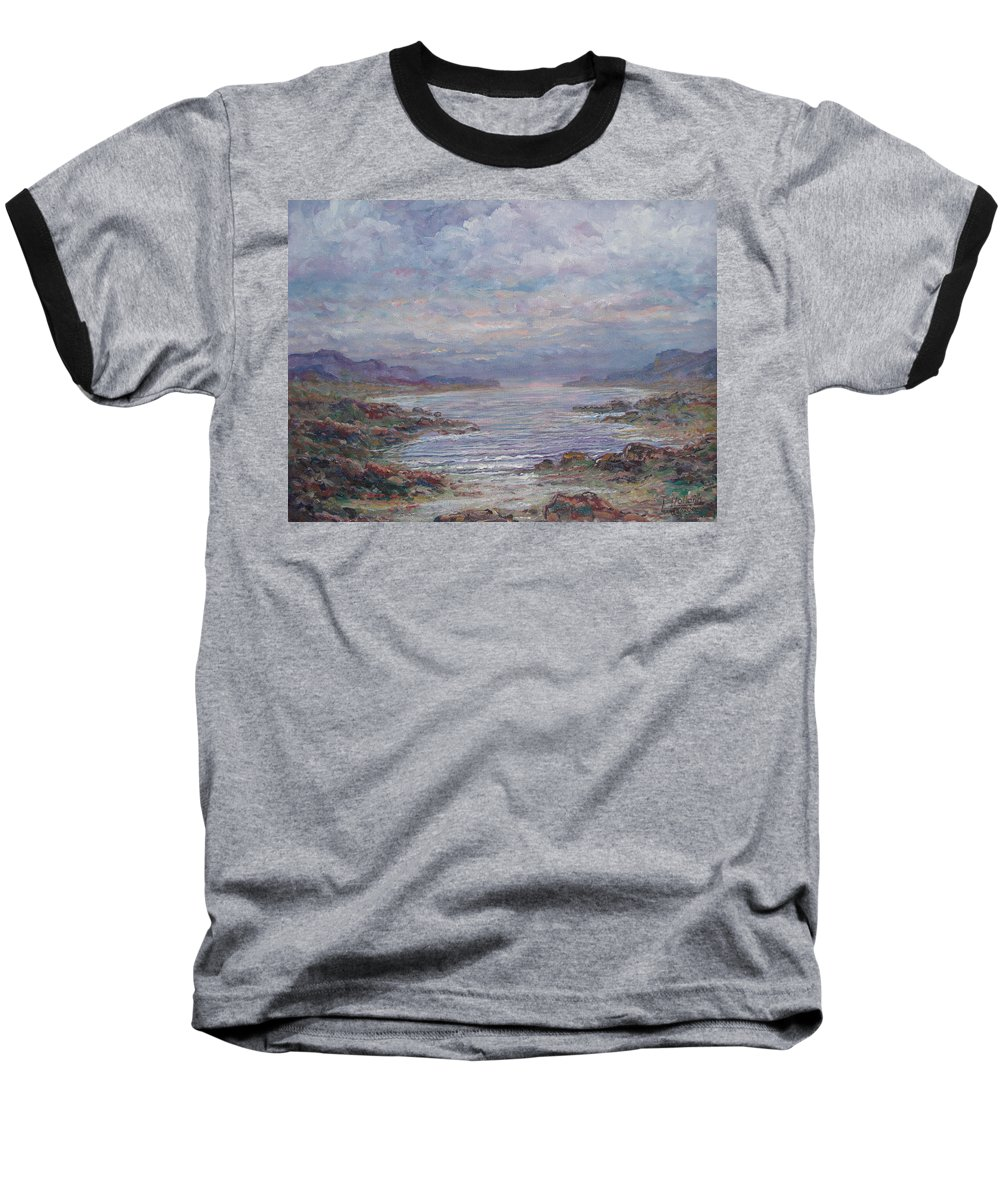 Painting Baseball T-Shirt featuring the painting Quiet Bay. by Leonard Holland