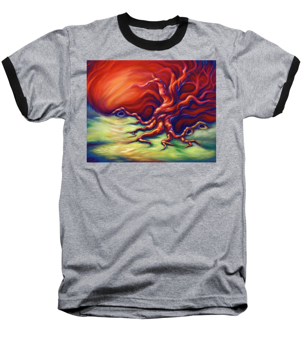 Oil Painting Baseball T-Shirt featuring the painting Quiet Place by Jennifer McDuffie