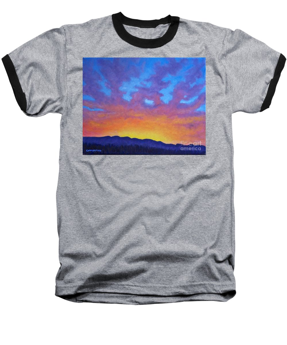 Landscape Baseball T-Shirt featuring the painting Radiance by Brian Commerford