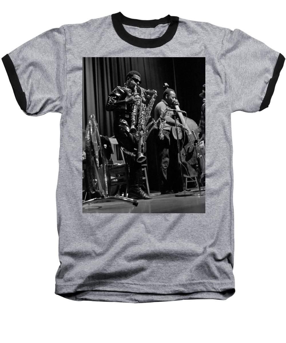 Rahsaan Roland Kirk Baseball T-Shirt featuring the photograph Rahsaan Roland Kirk 1 by Lee Santa