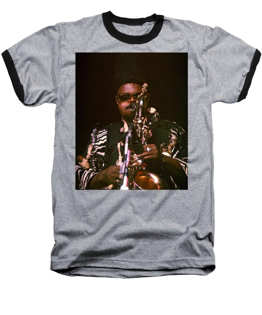 Rahsaan Roland Kirk Baseball T-Shirt featuring the photograph Rahsaan Roland Kirk 3 by Lee Santa