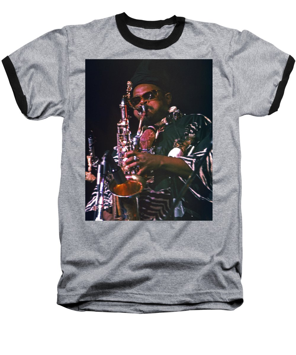 Rahsaan Roland Kirk Baseball T-Shirt featuring the photograph Rahsaan Roland Kirk 4 by Lee Santa