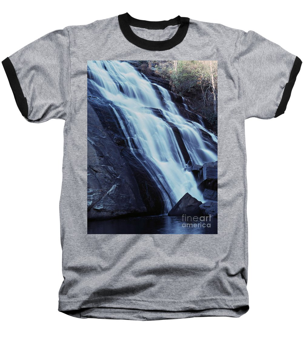 Waterfall Baseball T-Shirt featuring the photograph Rainbow Falls by Richard Rizzo