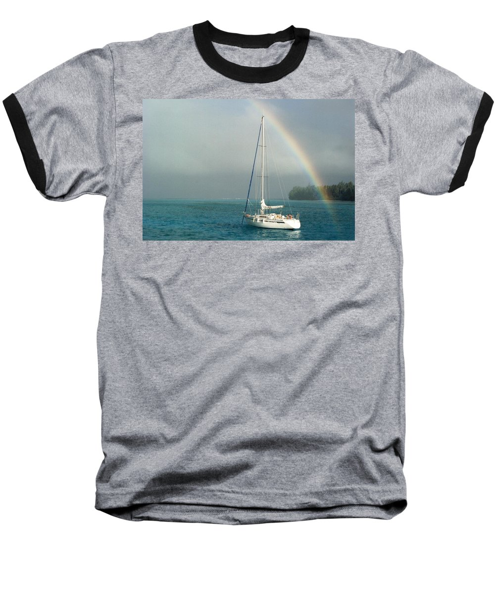 Charity Baseball T-Shirt featuring the photograph Rainbow by Mary-Lee Sanders