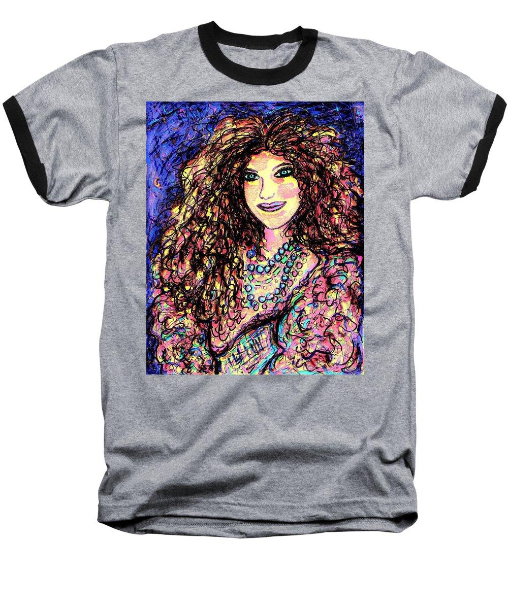Woman Baseball T-Shirt featuring the painting Ravishing Beauty by Natalie Holland
